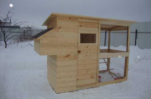 Зимний курятник на этапе строительства