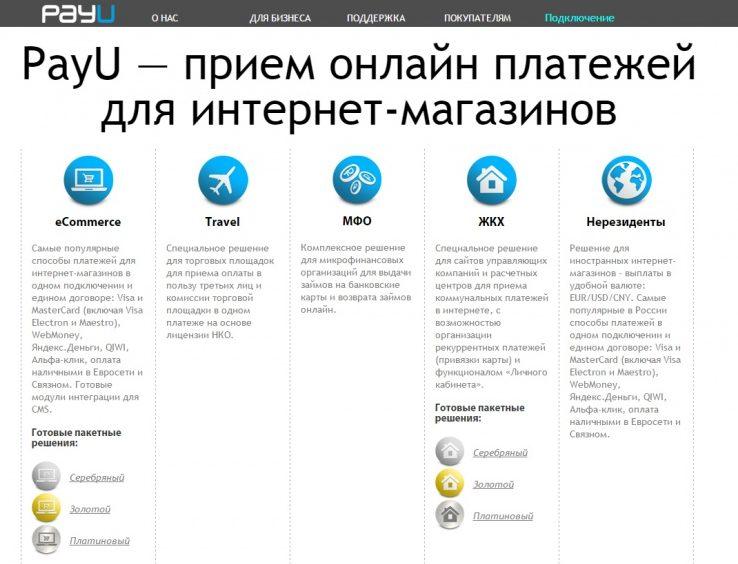 PayU - сервис приема онлайн-платежей