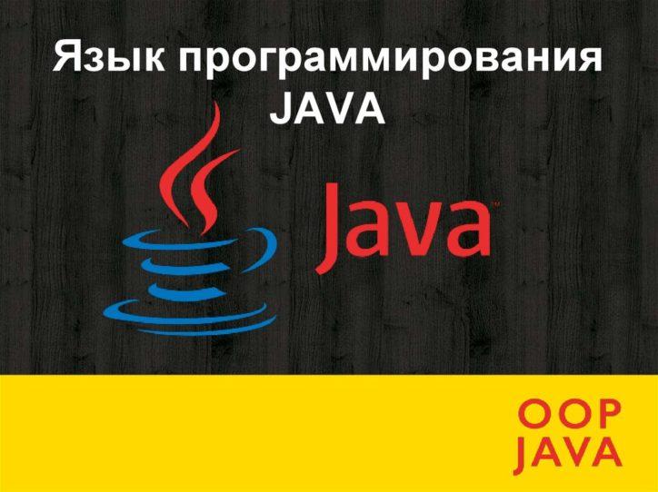 Объектно-ориентированный язык программирования Java