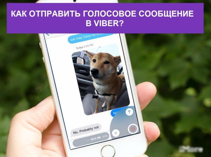 Отправка голосового сообщения