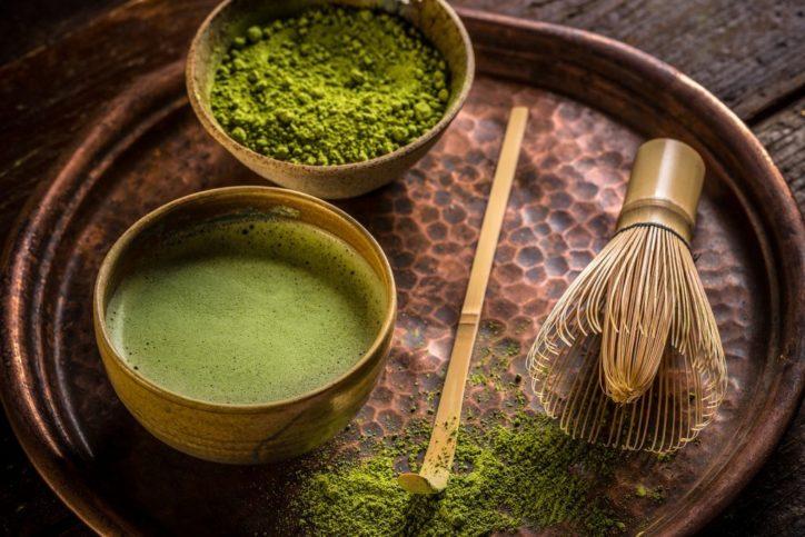Приготовление чая Зеленый Матча