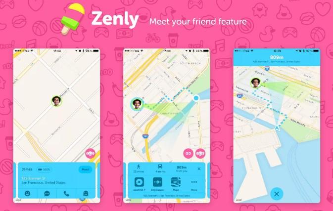 Отслеживание перемещений с помощью Zenly