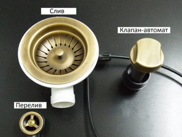 Устройство автоматического клапана для мойки