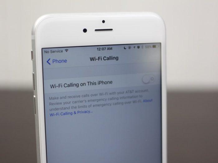 Включение Wi Fi calling на Айфоне