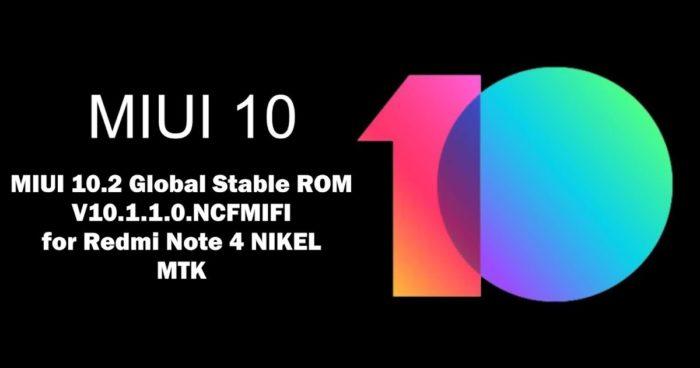 Глобальная версия прошивки для Redmi Note 4