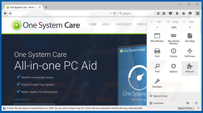 One System Care проверяет состояние системы компьютера