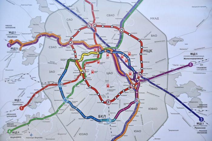 Схема московских центральных диаметров