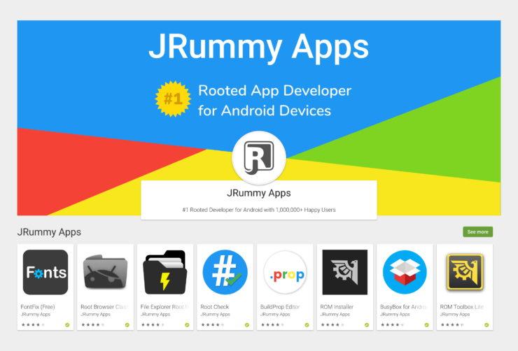Софт от компании jRummy apps inc