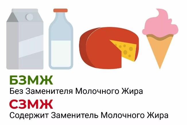 Продукты без заменителя молочного жира