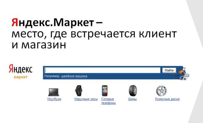 Каталог товаров Яндекс Маркет
