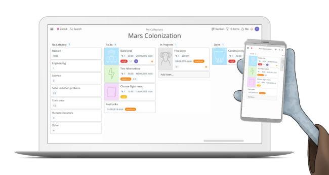Возможности приложения Zenkit для Андроид