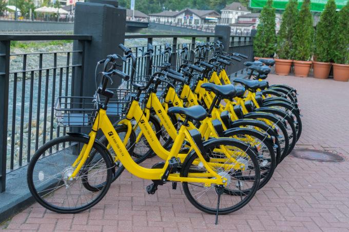 Парковка для шеринговых велосипедов