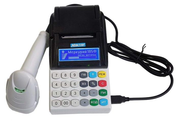 Онлайн касса Меркурий с подключенным сканером штрих-кода