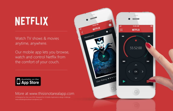 Приложение Netflix для мобильных устройств