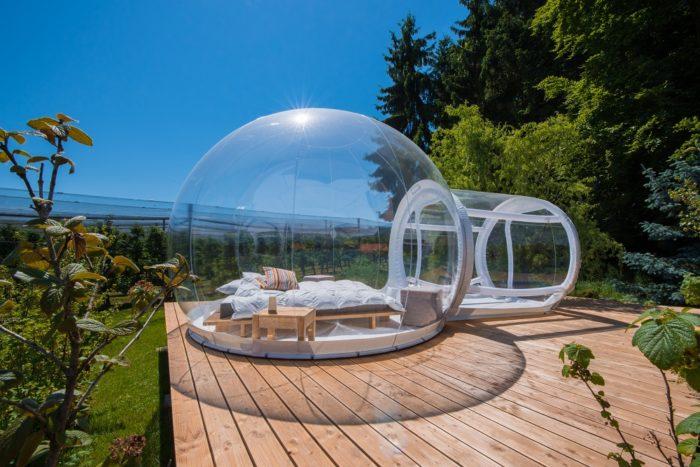 Номер в Bubble отеле во Франции