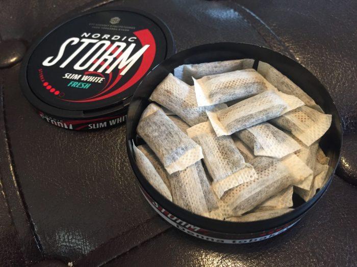 Жевательные пакетики с никотином