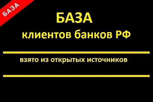 База клиентов банков РФ