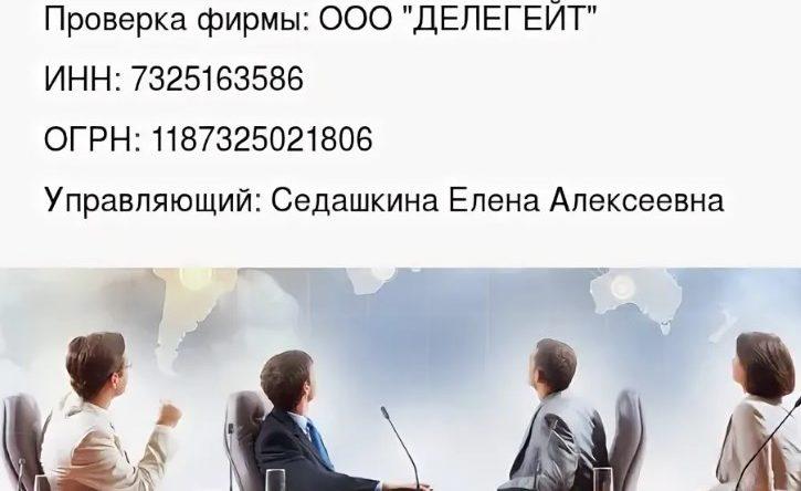 """Информация о ООО """"ДЕЛЕГЕЙТ"""""""