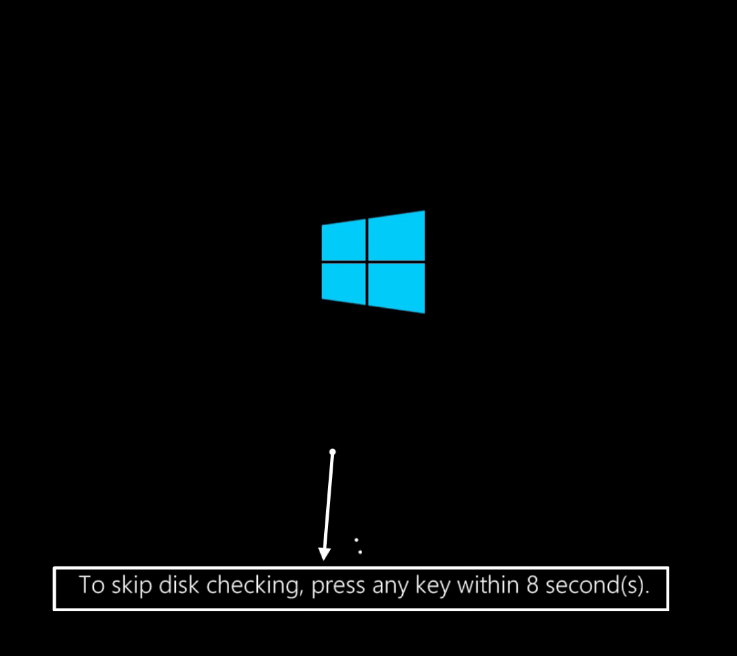 To-skip-disk-checking-press-any-key-within-цифра-seconds